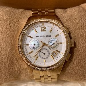 Michael Kors Gold and Diamond Accent Watch